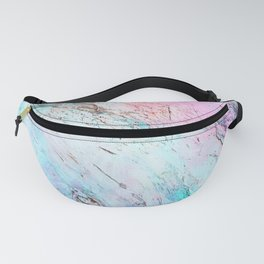 Abstract modern  pink teal lavender watercolor marble Fanny Pack