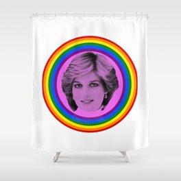 Lady Diana Gay Icon LGBT Pride season Royal Family Shower Curtain