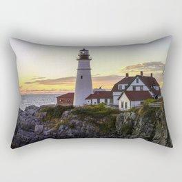 Portland Head Light Sunrise Rectangular Pillow
