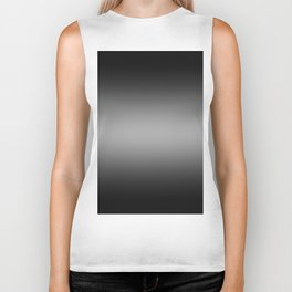 Black to White Horizontal Bilinear Gradient Biker Tank