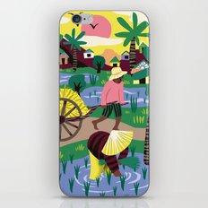 Ricefields Cambodia iPhone & iPod Skin
