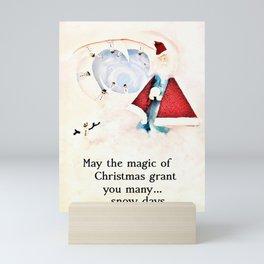 Magic of Christmas Santa Mini Art Print