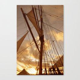 SAILS AT DUSK Canvas Print