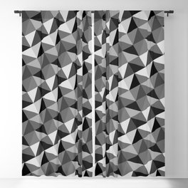 Pattern of triangles in gray shades Blackout Curtain