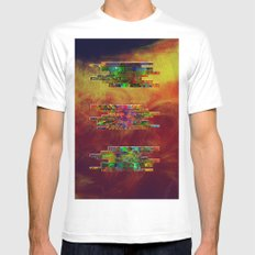 stone on stone White MEDIUM Mens Fitted Tee