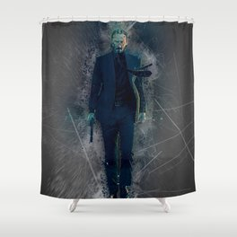 John Wick Abstract Shower Curtain