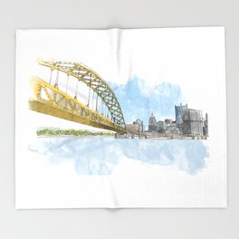 Fort Pitt Bridge Throw Blanket