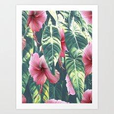 Wild Hibiscus #society6 #decor #buyart Art Print