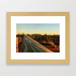 Straight ahead Framed Art Print