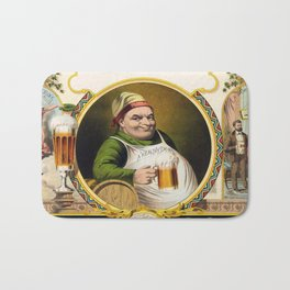 Vintage Lager Beer Advertisement Bath Mat