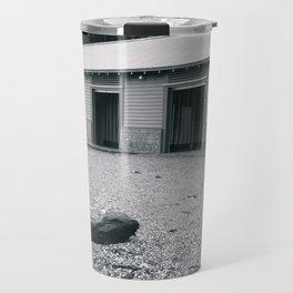 Beach Changing Sheds Travel Mug
