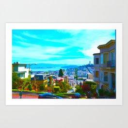 San Francisco Lombard St. Art Print