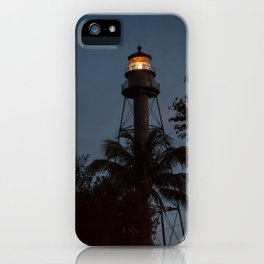 Lighthouse at Night iPhone Case