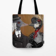 Demoiselle Crane and Grey Crowned Crane Tote Bag