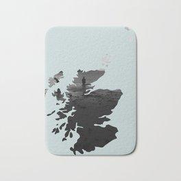 'Wandering' Scotland map Bath Mat