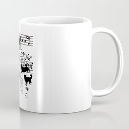 Dog Musician Funny Dogs Clef Gift Coffee Mug