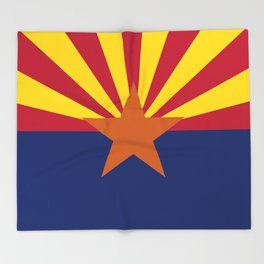 Arizona State flag, Authentic scale & color Throw Blanket