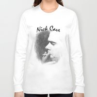 nick cave Long Sleeve T-shirts featuring Nick Cave by EclipseLio