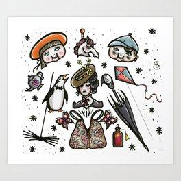 Lets go fly a Kite Art Print