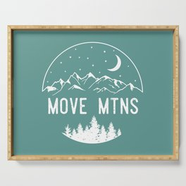 Move Mtns White Serving Tray