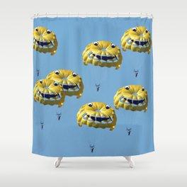 funny swarm Shower Curtain