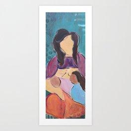 Tandem Nursing Art Print
