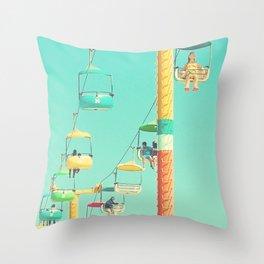 Sky glider Throw Pillow