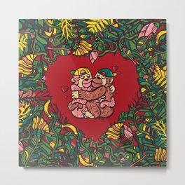 Monkey's love Metal Print