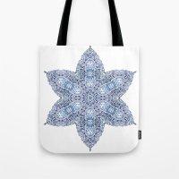 snowflake Tote Bags featuring Snowflake by Awispa