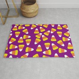 Candy Corn Jumble (purple background) Rug