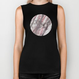 Real marble with pink, coral and copper colors and textures Biker Tank