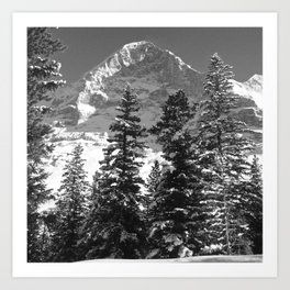 EIGER NORTH FACE, SWITZERLAND Art Print