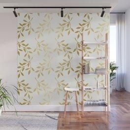 Golden Leaves Wall Mural