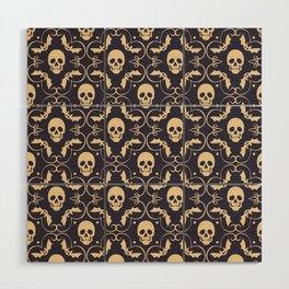 Happy halloween skull pattern Wood Wall Art