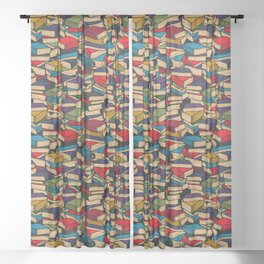 The Book Collector Sheer Curtain