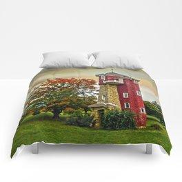 Autumn Water Tower Comforters