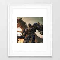 optimus prime Framed Art Prints featuring Optimus Prime by Tom Lee