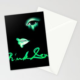 Pink Lexi Electric Green Stationery Cards
