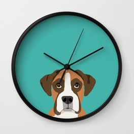 Boxer head dog breed gifts cute pupper Boxers must haves Wall Clock