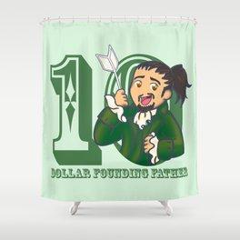 Ten Dollar Founding Father Shower Curtain