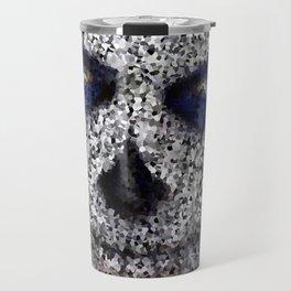 Skull In Black And White Travel Mug