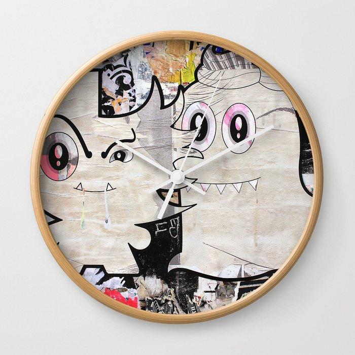 Two Sugar Monsters Wall Clock