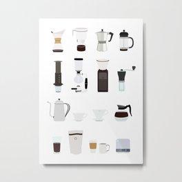 Making Coffee Metal Print