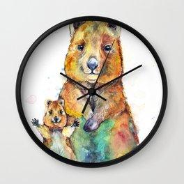 Qwazy Quokkas Wall Clock