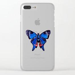 Blue Phoenix Clear iPhone Case