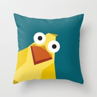 duck Throw Pillows featuring Duck by Fairytale ink