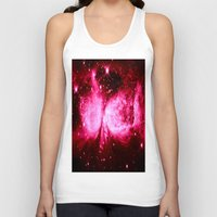 hot pink Tank Tops featuring A Star is Born : Hot Pink Galaxy by GalaxyDreams