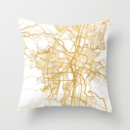 MEDELLÍN COLOMBIA CITY STREET MAP ART Throw Pillow