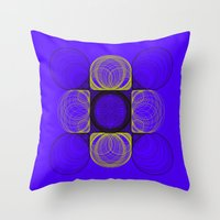 lee pace Throw Pillows featuring spirals pace by Gaspart
