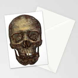 Golden Skull Stationery Cards